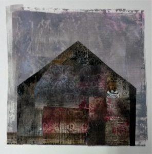 zonder titel, gemengde technieken, 34 x 34 cm, 2016, Andries de Jong