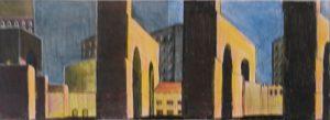 zonder titel, fotografie, fotokopie, inkt en potlood, 20 x 8 cm, 2001, door Andries de Jong