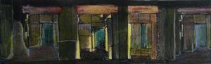 foto, fotokopie, inkt en potlood, 20 x 6 cm, innerlijke wereld, door Andries de Jong, 2001