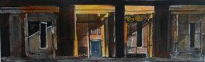 Innerlijke wereld, fotografie, fotokopie, inkt en potlood, 20 x 6 cm, 2001, door Andries de Jong