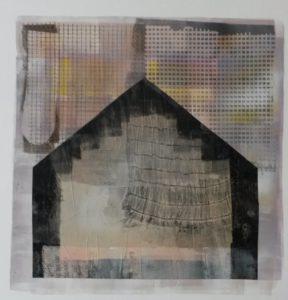 zonder titel, gemengde technieken, 34 x 35 cm, 2016, Andries de Jong