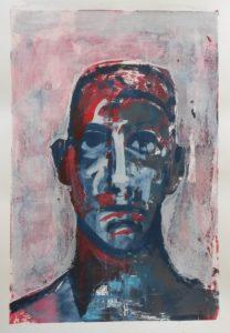 zonder titel, zeefdruk, 26 x 43 cm, 2013, Andries de Jong