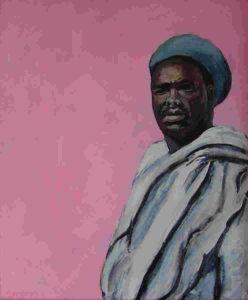 Soedanees, acryl op canvasboard, 50 x 60 cm, 2005, Andries de Jong