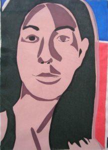 vrouw, zeedruk, 25x 35cm, 2009, Andries de Jong