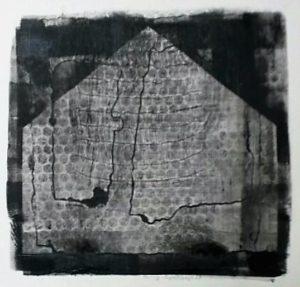zonder titel, gemengde technieken, 31 x 30 cm, 2016, door Andries de Jong